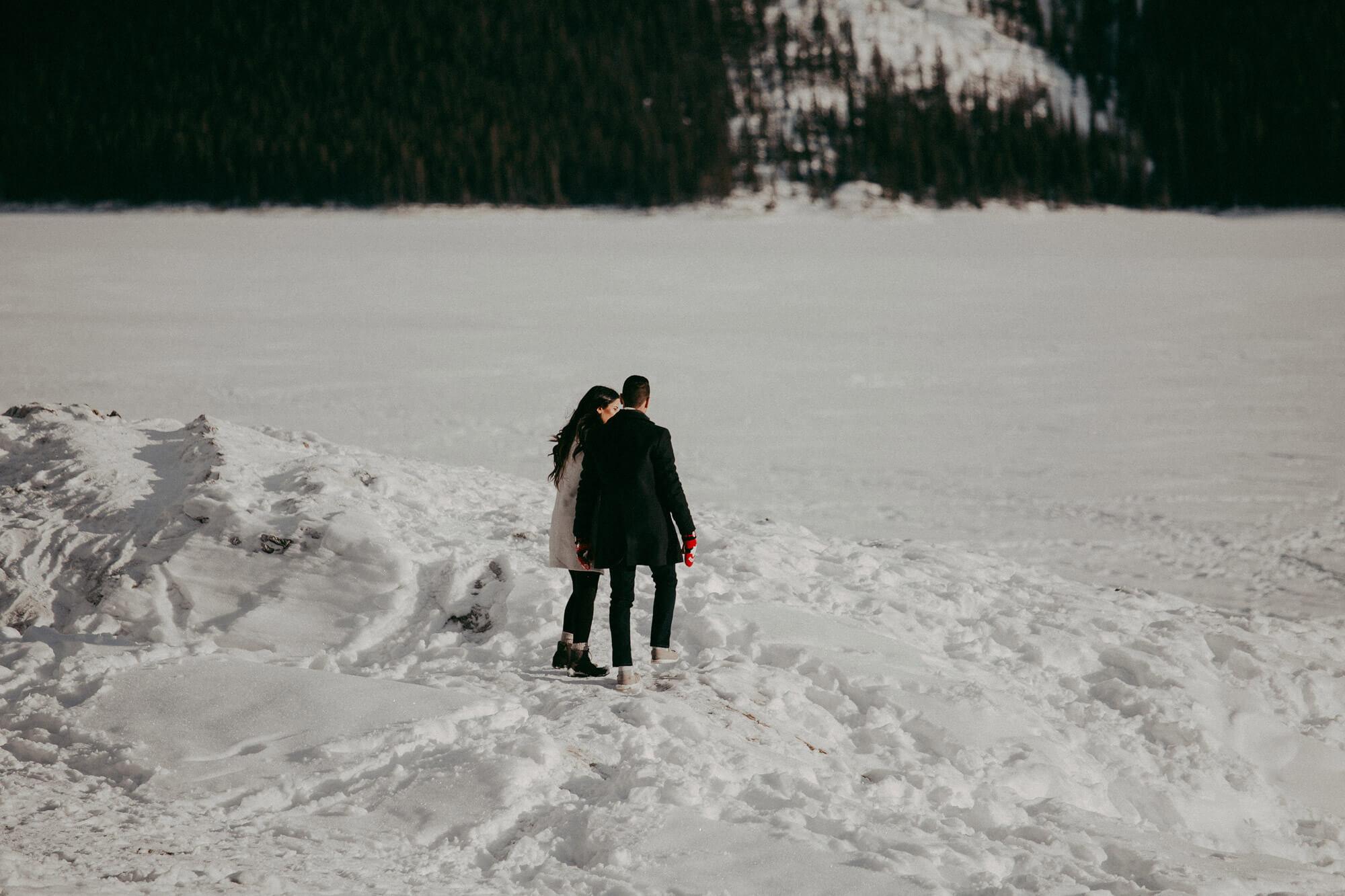 Couple Photography   Banff Marriage Proposal   Calgary Wedding Photographer