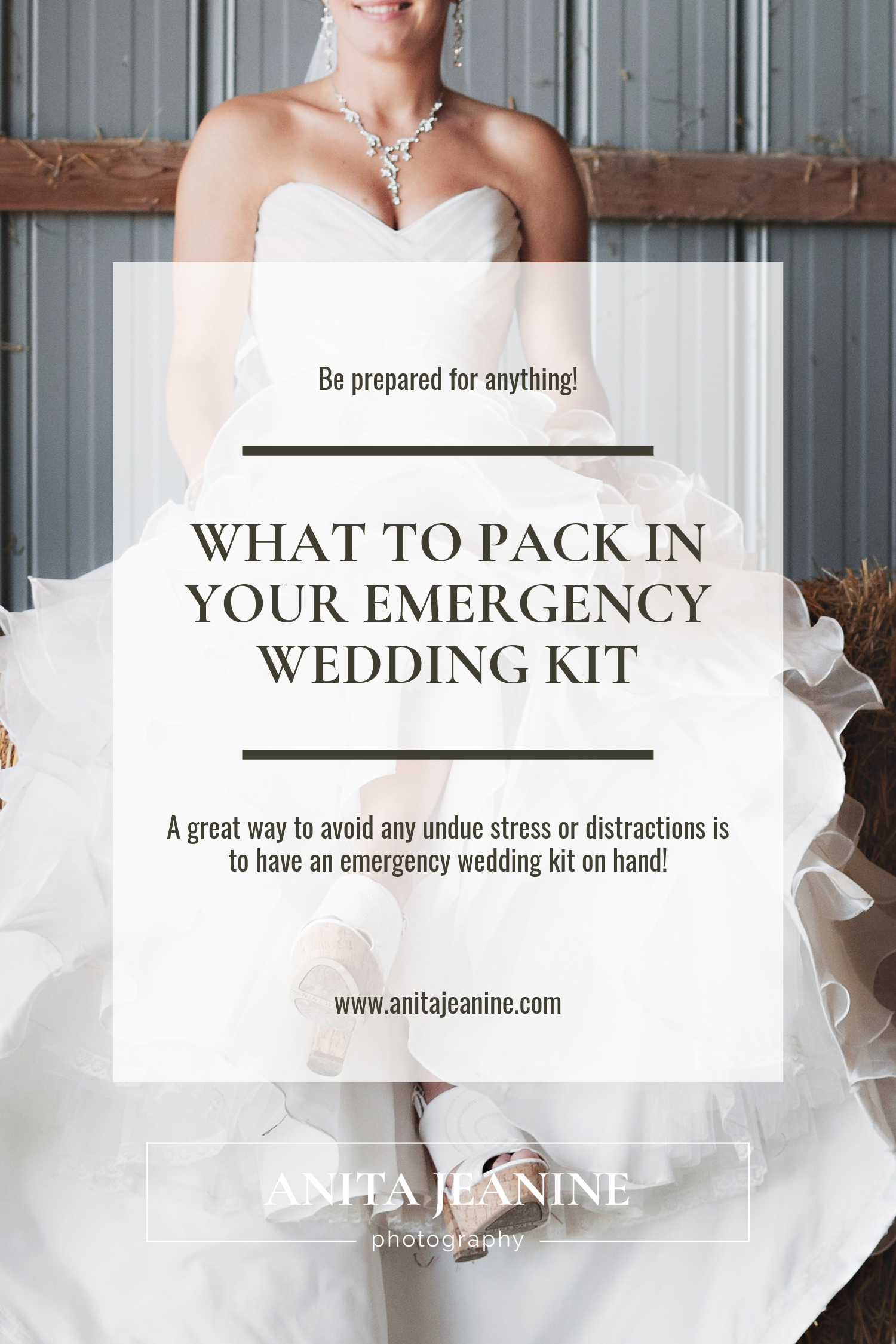 What to Pack in Your Emergency Wedding Kit