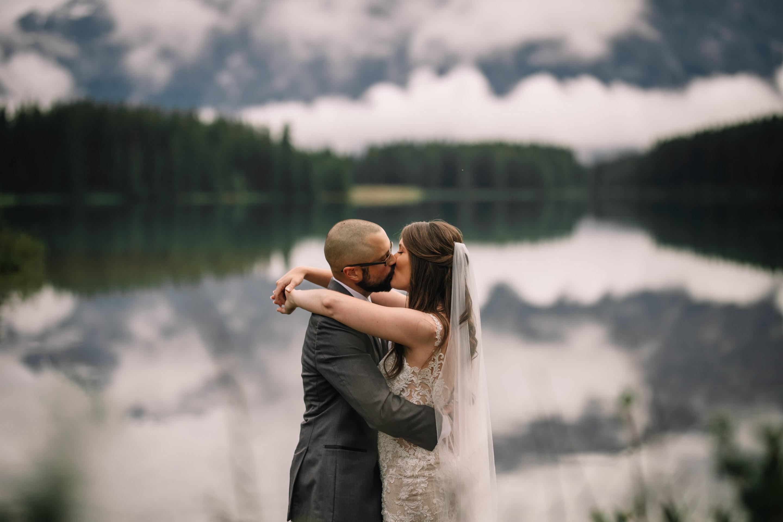 Banff Elopement Photographers   Canmore Wedding Photography   Lake Minnewanka Adventure Session   Wedding Photography Inspiration   Best Calgary Wedding Photographers   Destination Weddings   Couples Love Story